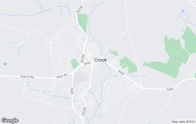 Map for Reeds Rains Lettings, Crook