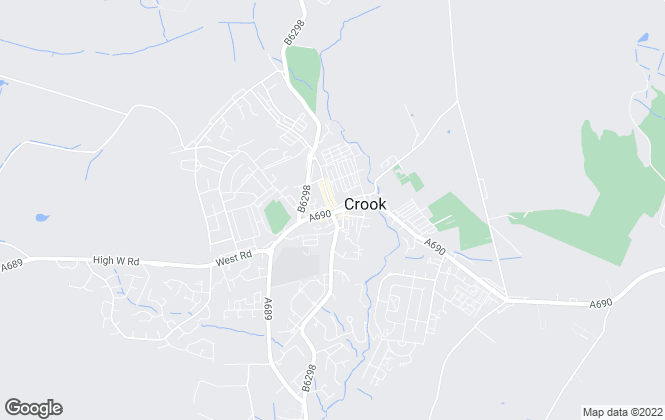 Map for Robinsons, Crook
