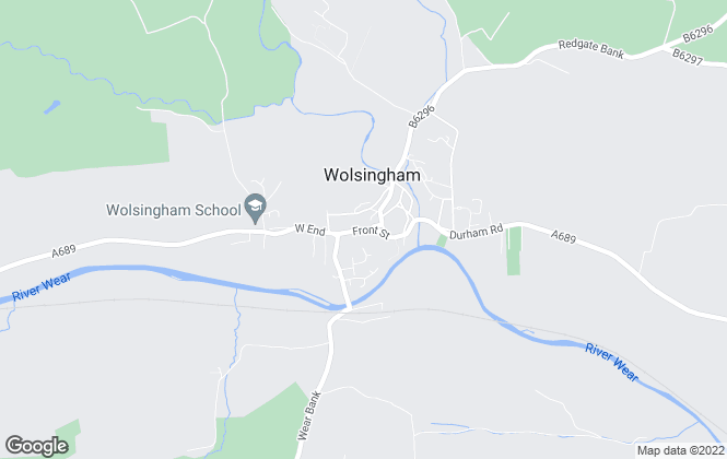 Map for George F.White, Wolsingham