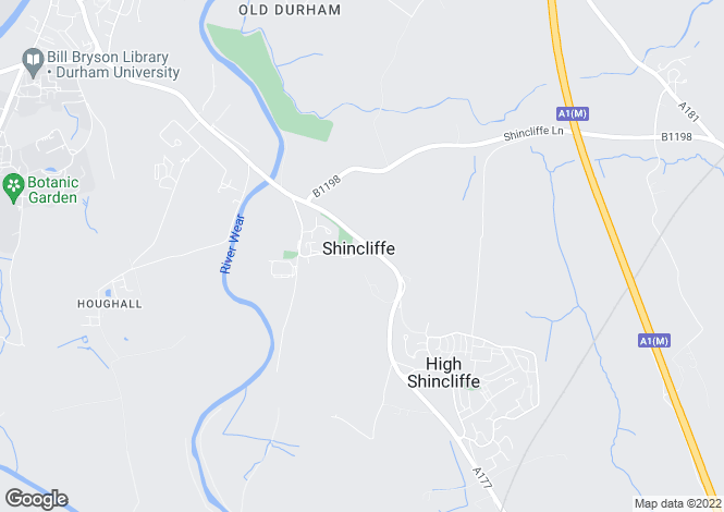 Map for Shincliffe, Durham