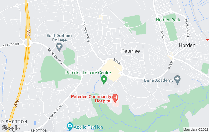 Map for Kimmitt and Roberts, Peterlee
