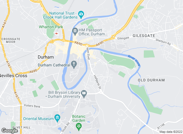 Map for Harringtons Sales & Lettings, Durham