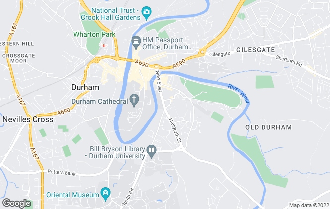 Map for Bradley Hall Chartered Surveyors, Durham