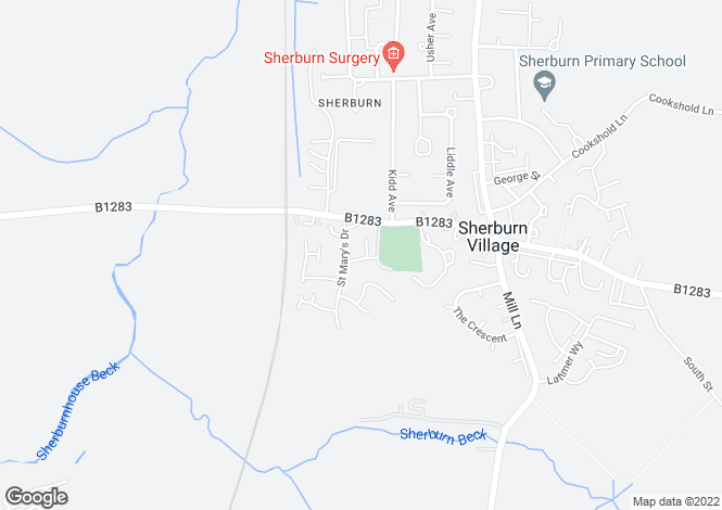 Map for Blair Close, Sherburn Village, Durham DH6