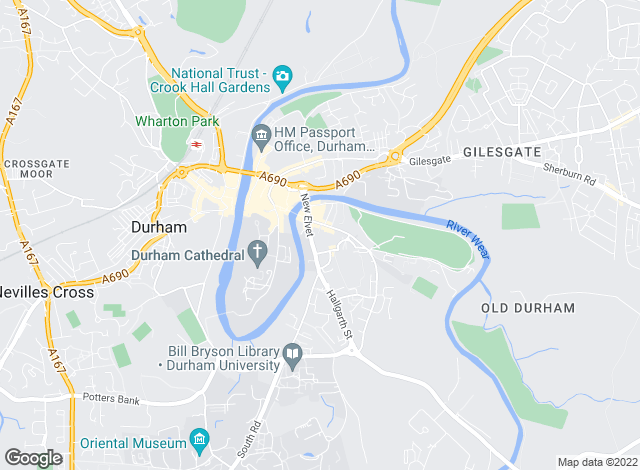 Map for J W Wood, Durham - Commercial