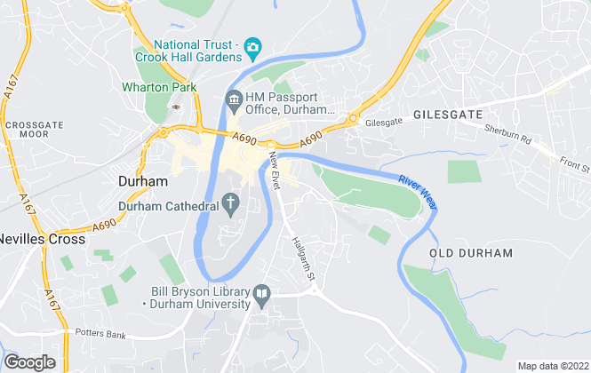 Map for Dowen, Durham