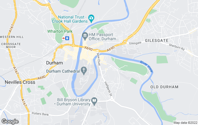 Map for Rise Sales & Lettings, Durham City