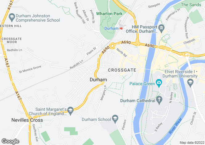 Map for St. Margarets Flats,