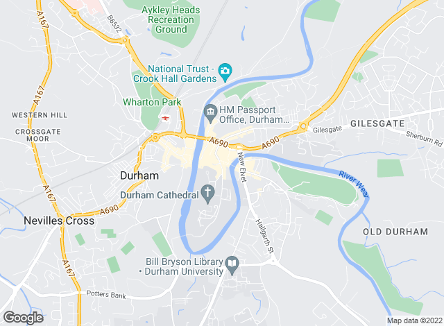 Map for Bridgfords Lettings, Durham