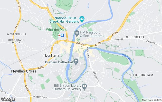 Map for Bridgfords Lettings, Durham