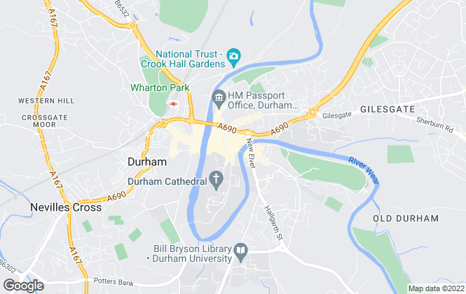 Map for Bridgfords, Durham
