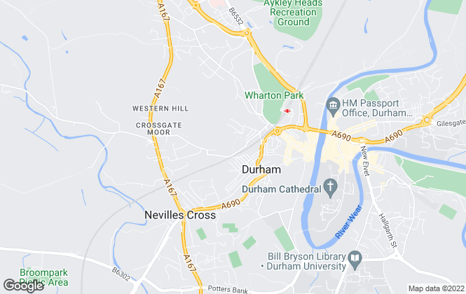 Map for The 1 Lettings and Management Ltd, Durham - Commercial