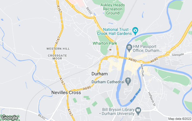 Map for The 1 Lettings and Management Ltd, Durham