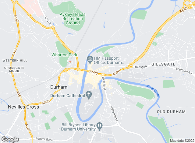 Map for Ben Charles, Durham