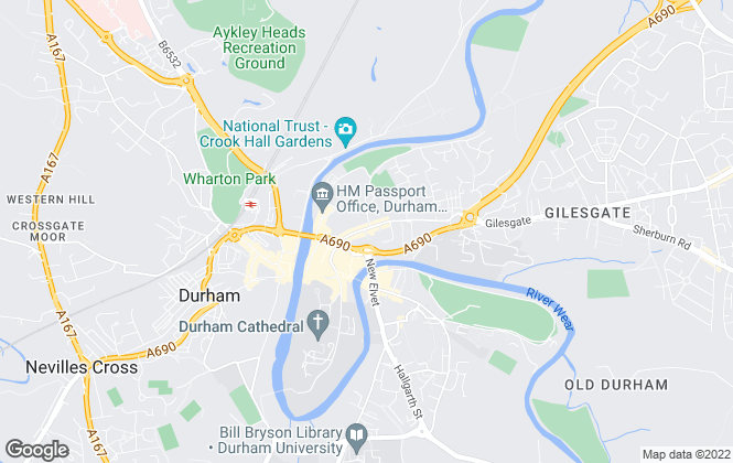 Map for Stuart Edwards, Durham