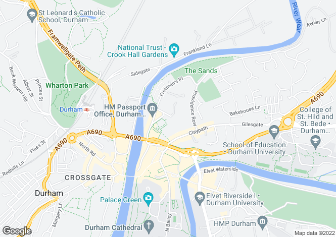 Map for FREEMANS QUAY, Millennium Place, Durham, County Durham