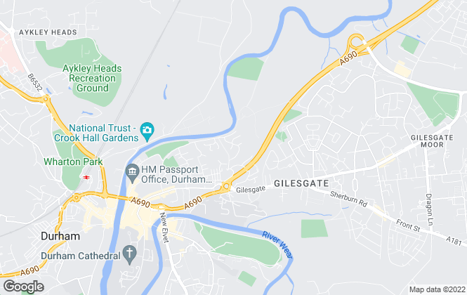 Map for NMR Lettings, Durham