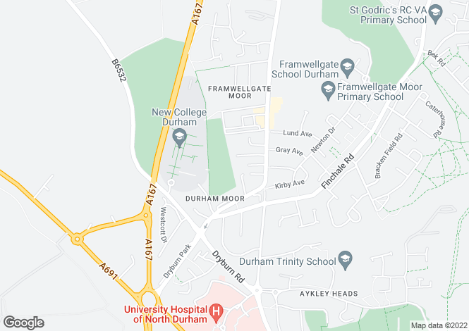 Map for Camsell Court, Durham, Durham, DH1