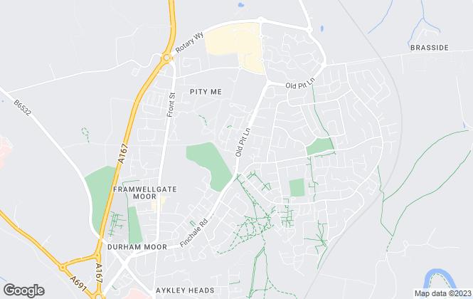 Map for  Graham S Hall Chartered Surveyors, Durham