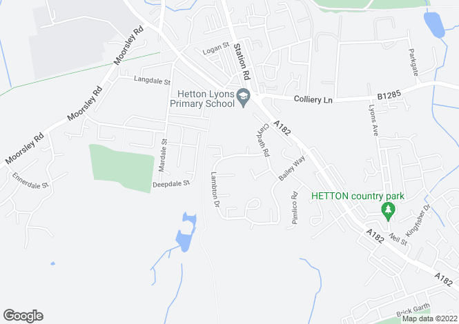 Map for Lambton Drive, Hetton-le-Hole, HOUGHTON LE SPRING