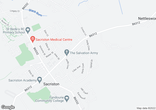 Map for Beechwood Close, Sacriston, Co Durham, DH7