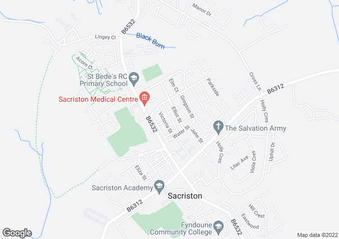 Map for Victoria Street, Sacriston, Durham DH7