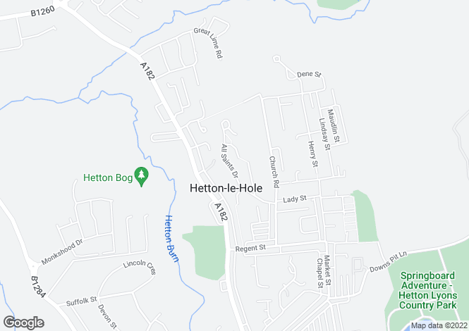 Map for All Saints Drive, Hetton le Hole, Houghton le Spring, Tyne and Wear, DH5