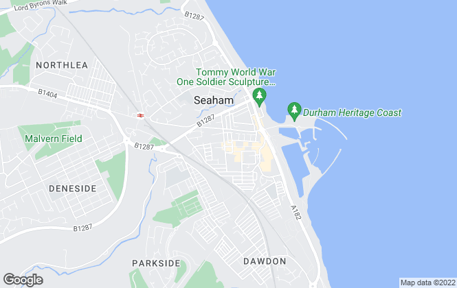Map for Kimmitt and Roberts, Seaham