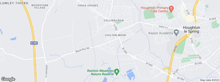 Map for Persimmon Homes Durham