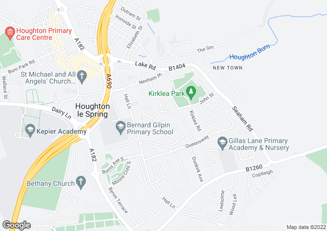 Map for Hetton Road, Houghton Le Spring