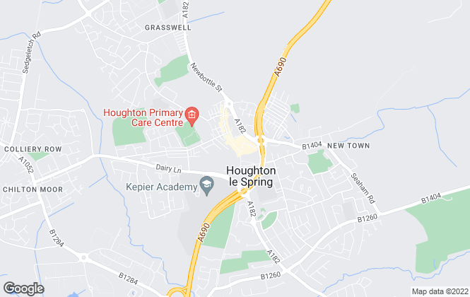 Map for Hegartys Estate Agents, Houghton-Le-Spring - Sales