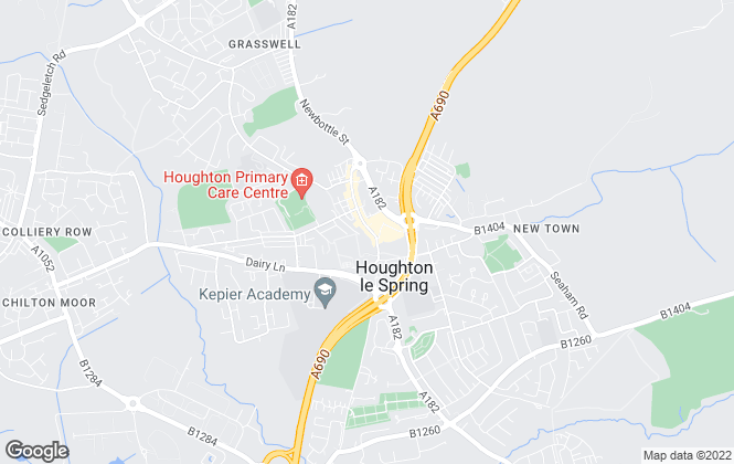 Map for Hegartys Estate Agents, Houghton-Le-Spring