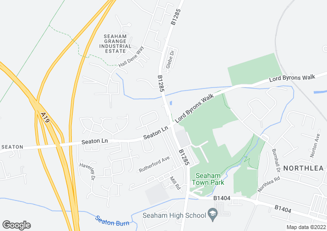 Map for IVANHOE, STOCKTON ROAD, SEAHAM, SEAHAM DISTRICT
