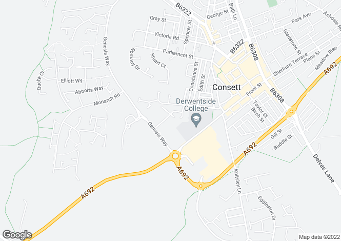 Map for Woodbridge at Berry Edge, Genesis Way,