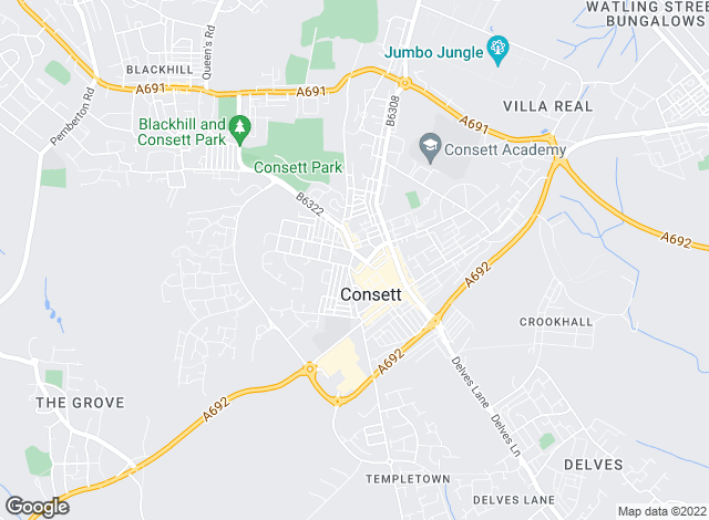 Map for YOUR MOVE Chris Stonock, Consett