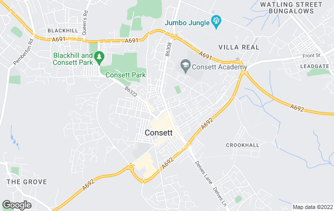 Map for Pattinson Estate Agents, Consett