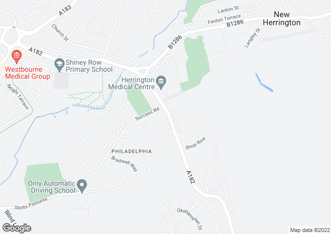 Map for Thompsons Buildings, Philadelphia, Houghton Le Spring, Tyne & Wear