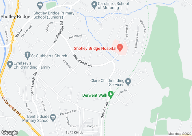 Map for Woodlands Road,
