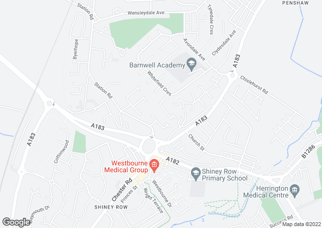 Map for Sutton Close, Penshaw, Houghton Le Spring, Tyne & Wear