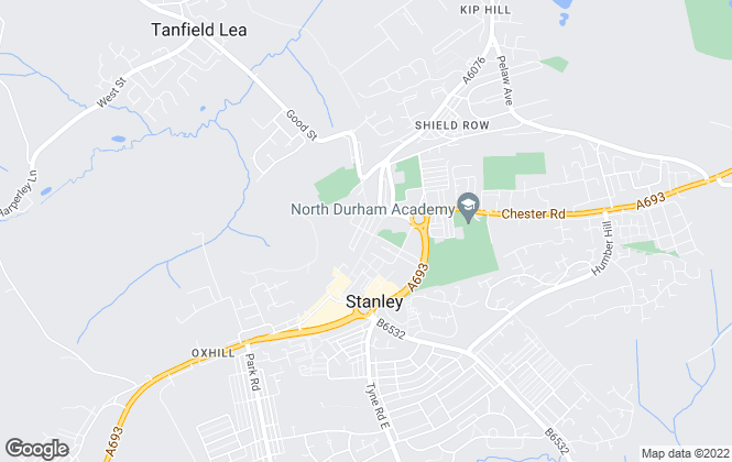 Map for David Bailes, Stanley