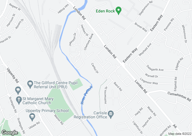 Map for KENTMERE at Eden Park, Carliol Drive,