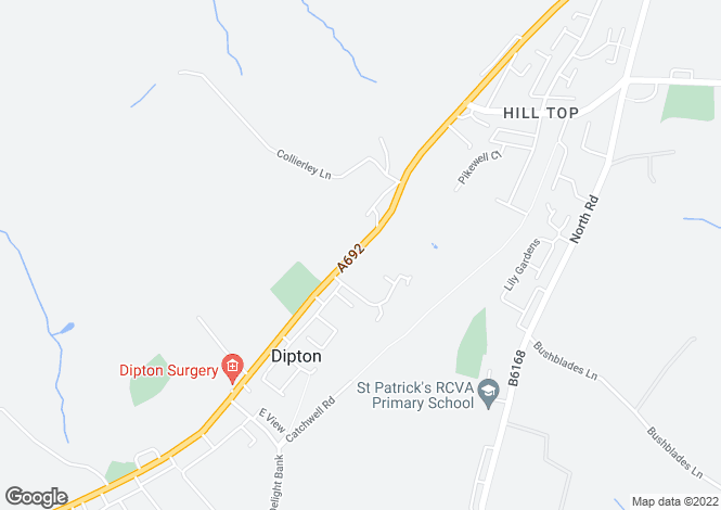 Map for , Dipton, Stanley DH9
