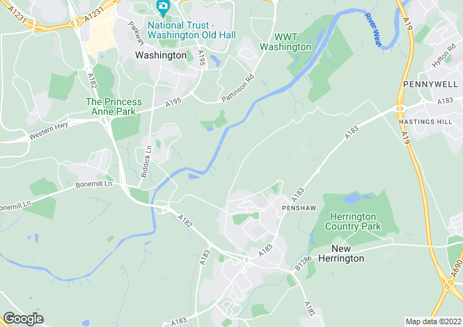 Map for Low Lambton Farm, Penshaw, Tyne & Wear, DH4