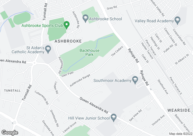 Map for Beecholm Court, Ashbrooke, Sunderland, SR2