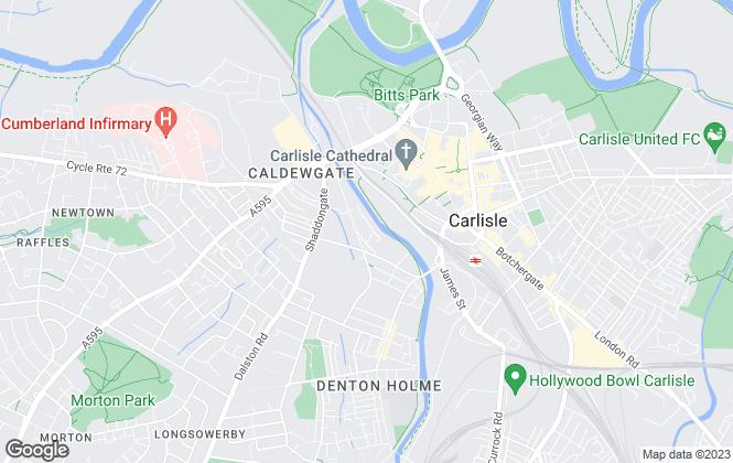 Map for Citadel Estates, Carlisle