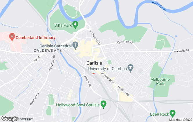Map for Northwood, Carlisle