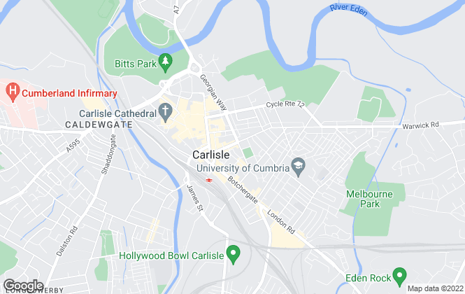 Map for Savills Lettings, Carlisle