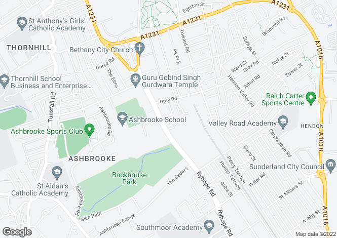 Map for Ashburne Court, Ashbrooke