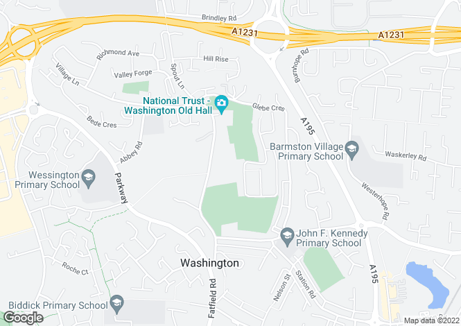 Map for Dame Margaret Hall, WASHINGTON, Tyne and Wear