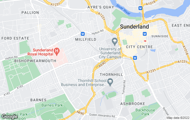Map for Purely Students, Sunderland